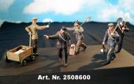 """Figurenset """"Mittagspause"""", 5 Figuren, 1 Handwagen und Zubehör"""